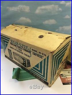 Vintage STAR-LITE FM/AM TABLE RADIO 7 TUBE SUPER HETERODYNE CIRCUIT FE-876 MINT