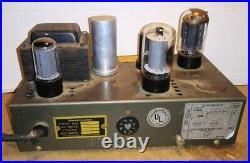 Vintage STROMBERG CARLSON AU-19 VACUUM TUBE AUDIO AMPLIFIER Guitar Amp Radio 6L6