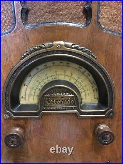 Vintage Serviced Coronado Cathedral Tube Radio WW2