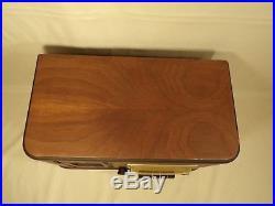 Vintage Silvertone Art Deco Style Wood Cabinet Tube Radio Parts Repair Decor