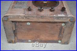 Vintage Silvertone Model 4569 Art Deco Radio For Parts Untested Nice Dial