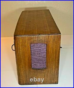 Vintage Telefunken Concertino 9u Tube Console Radio 4-Speaker Stereo Rotary Ant