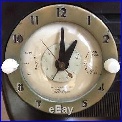 Vintage Tube Radio Alarm Clock Working Jewel AM by Crosby-Paige USA Bakelite
