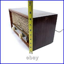 Vintage Tube Radio Motorola Wood Cabinet MCM AM Tabletop Works