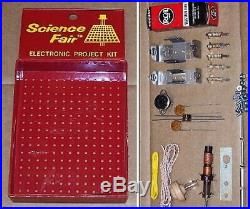 Vintage UNBUILT Radio Shack Science Fair AM one vacuum tube P-BOX receiver KIT