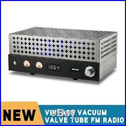 Vintage Valve Tube FM Radio Stereo Audio Receiver Preamp f/ Passive Speakers New