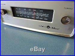 Vintage Voice Of Music AM/FM Tuner Model 1416 Working Tube Stereo Radio