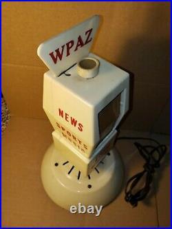 Vintage WPAZ 1370 Promo Figural Ribbon Microphone Tube Radio