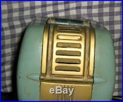 Vintage Westinghouse H-125, Tubes, Refrigerator Radio Turquoise, Green/Blue, Works