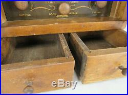Vintage Wood radio THE SPICE CHEST 484 TUBE antique cabinet RECEIVER shutter