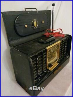 Vintage Zenith G500 Trans-Oceanic Radio 5G40 Chassis Portable Shortwave Radio
