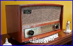 Vintage Zenith G730 AM/FM Tube Radio (1959) RESTORED & BEAUTIFUL