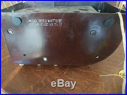 Vintage Zenith Model 6D512 Art Deco Bakelite Tube Radio Working