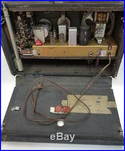 Vintage Zenith Trans-Oceanic H500 Radio Works! SW and AM 1950's tube radio
