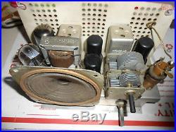 Vintage art deco General Electric GE tube radio working restored Model C751 NICE