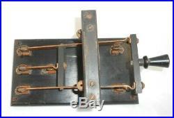 Vtg 1910's Murdock Radio Antenna Knife Switch Tx/Rx Spark Tube Transmitter