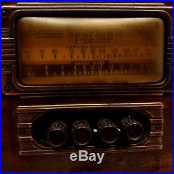 Vtg 1940's Sparton Shortwave Broadcast Tube Radio Wooden Tabletop Not Working
