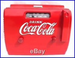 Vtg 1948-1949 Original COCA-COLA Coke Cooler Bakelite Tube Radio XLNT