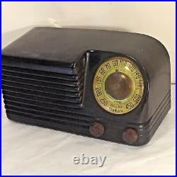 Vtg 40`s OLYMPIC Art Deco BAKELITE TUBE RADIO Slant Face VGC WORKS