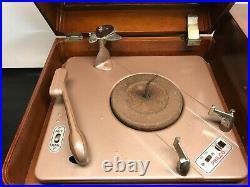 Vtg 40s 50s Philco Model 46-1203 Tube Radio Phonograph 78 Record Player NICE