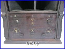 Vtg Antique 1920s RCA Victor Radiola X (10) Tube Radio Wood Console AS IS