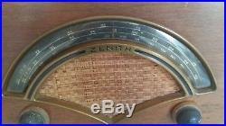 Vtg Charles/Ray Eames Zenith 8H034 Evans Plywood Bakelite Tube Radio Mid Century