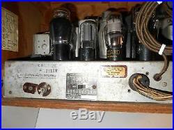 Vtg DECO 30's TRUE TONE Tube Radio Wood Cabinet Model D-1002 Western Auto