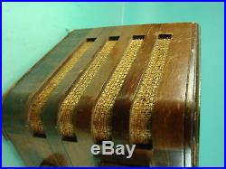 Vtg Early Zenith Black Dial Radio Model 7S529 AM Short Wave Art Deco Tube Type
