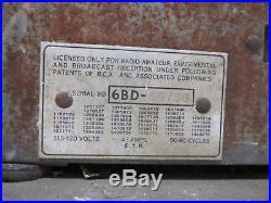 Vtg Emerson 1930s Model 45 6BD Tombstone Tabletop Tube Radio AM Long Wave As Is