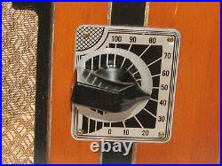 Vtg Imperial Wooden Case Tube Radio! Compact! Cloth Covered Cord! Needs Repair
