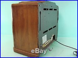 Vtg Sears Silvertone Model 1591 AM/SW Tube Radio Shortwave Art Deco Gold Dial