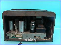 Vtg Wood Cabinet Art Deco Philco Tube Radio Receiver Model 38-62 Stancor USA