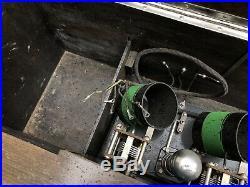 Vtg gilfillan bros neutrodyne type gn-1 Tube Radio Wooden Cabinet 5 Tubes Rare
