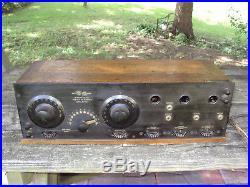 WORKS GREAT VINTAGE 1920's OLD GREBE ANTIQUE TUBE RADIO Model CR-9 Battery Set
