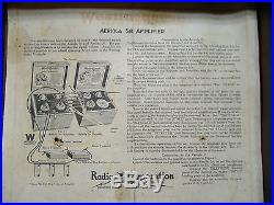 Westinghouse Aeriola SR. RCA Radio Amplifier With2 Tubes 1920's Antique Vintage