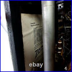 Working Vintage Zenith L600 TransOceanic Tube Radio Portable WaveMagnet 1950's