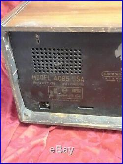 Working rare vtg GRUNDIG MAJESTIC 4085 Tube Radio deco cave man bar bc fm gift