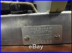 ZENITH TUBE RADIO Model 6-D-030 Antique vintage Wood Cabinet EAMES 1946 WORKS