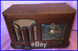 Zenith 1941 Vintage Tube Radio 6d 628