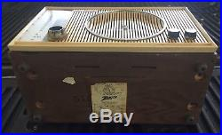 Zenith C845 Vintage Wood Cabinet HiFi AM/FM Tube Radio From 1959 Works Well